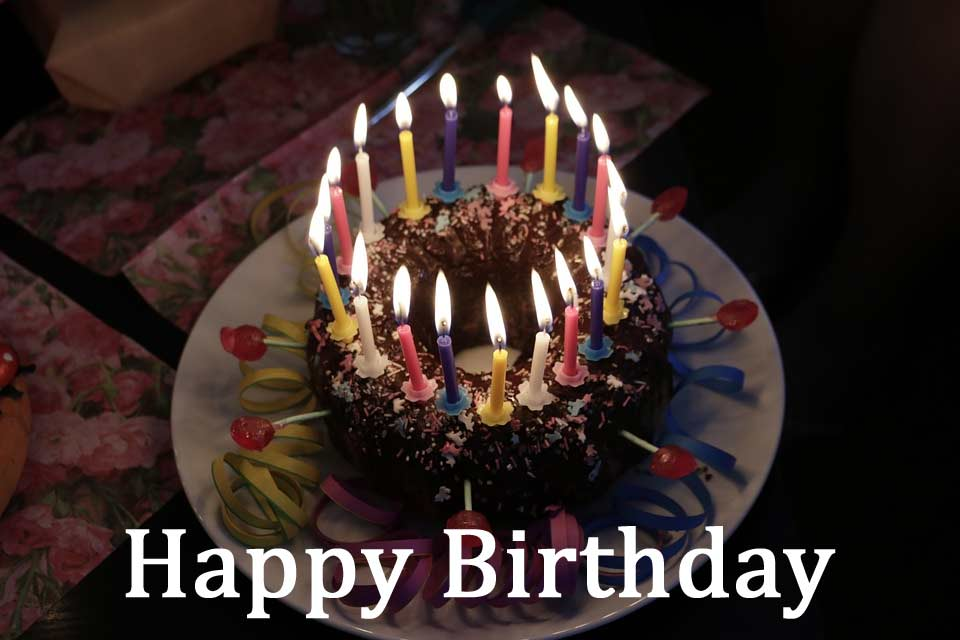Happy birthday candles image and pic