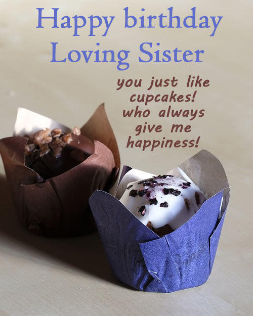 happy birthday image for loving sister