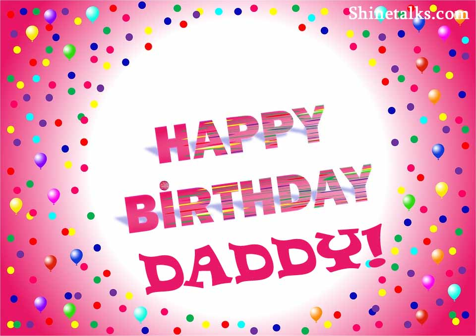 birthday party messages for father