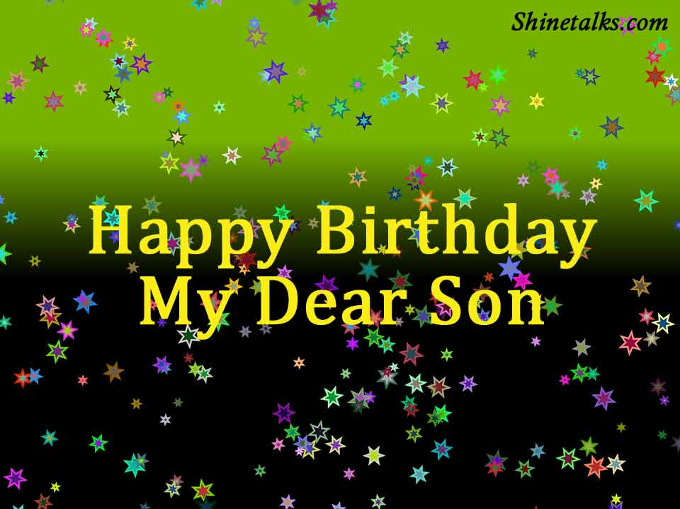 best birthday picture for dear son