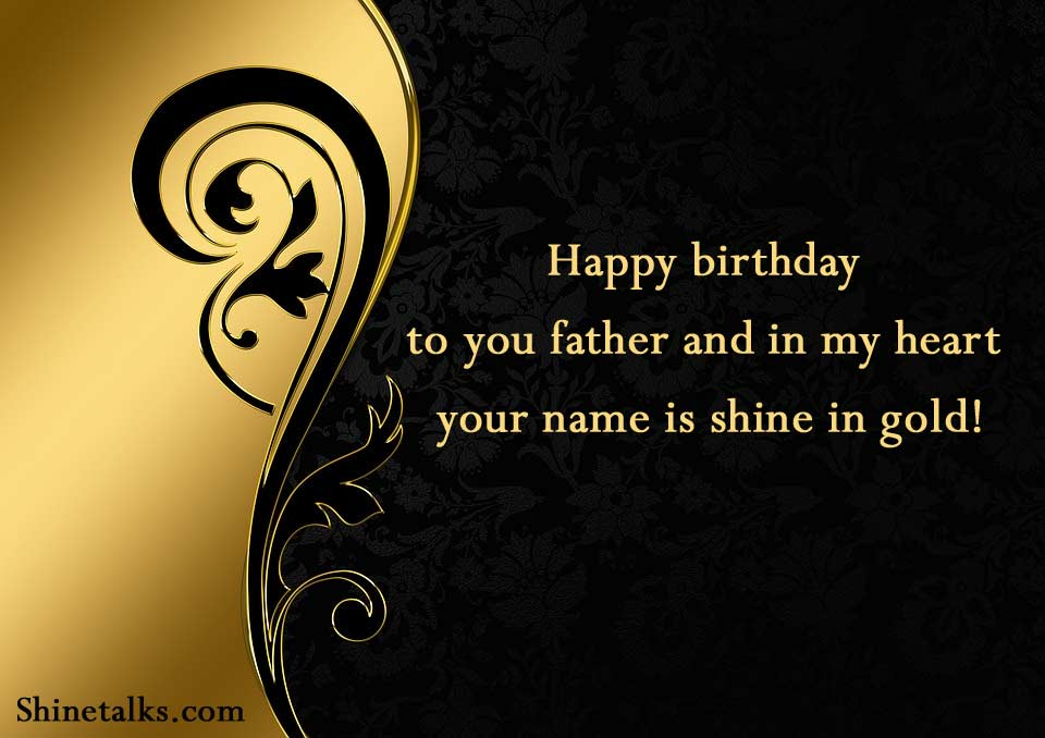 happy birthday shining greetings card for father