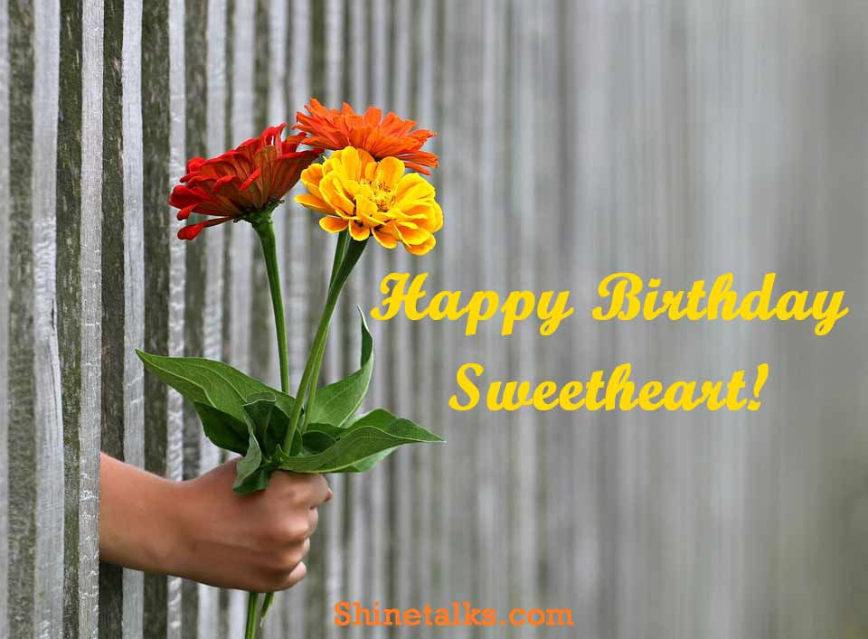 best happy birthday flower image for sweetheart