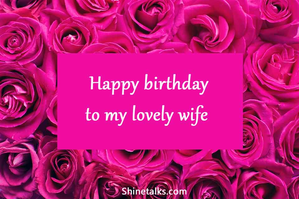 happy birthday rose wish for lovely wife