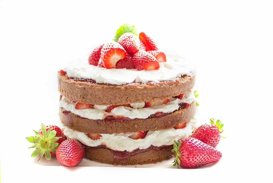 happy birthday fresh strawberry cake