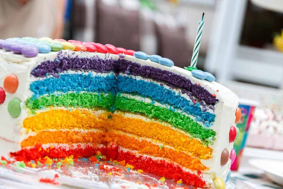happy birthday special rainbow cakes