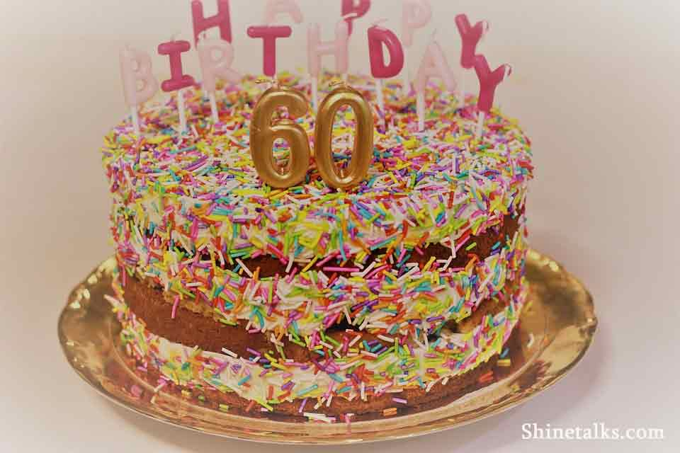 60th birthday cake images