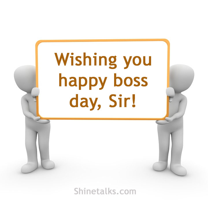 Happy Boss Day Card text