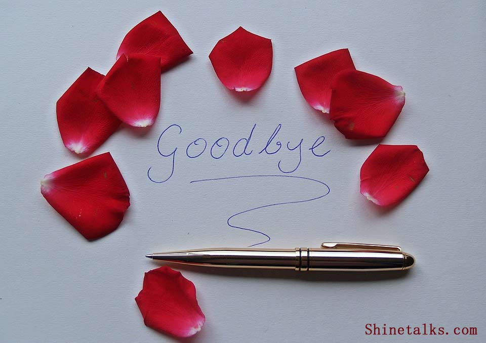 Goodbye Text When exit the Job