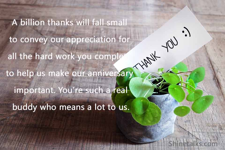 Beautiful Thank You Messages for Anniversary Wishes