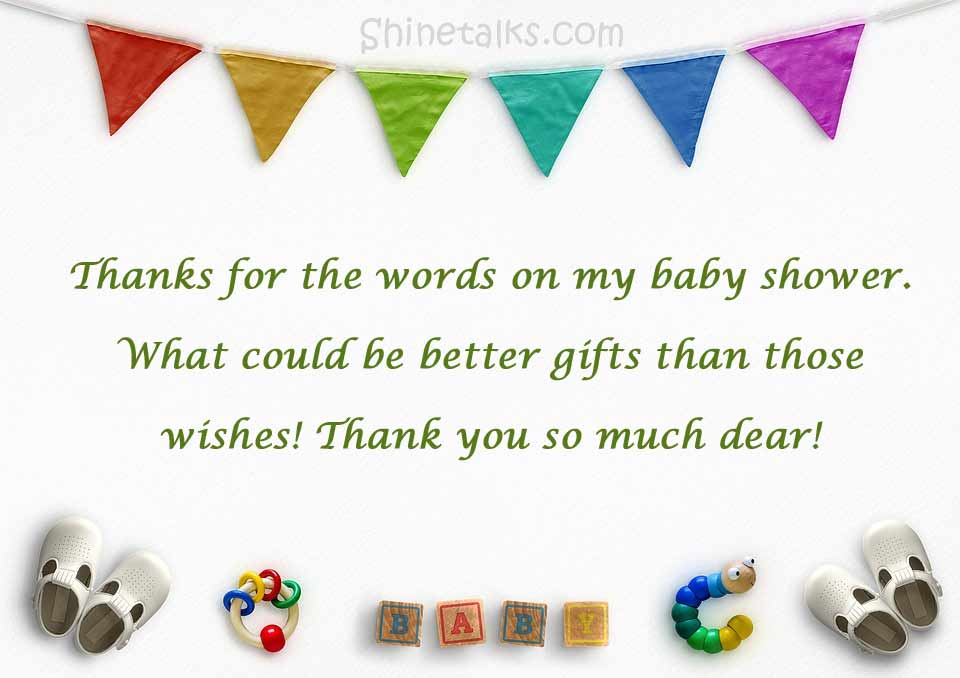 Appreciation Message for Baby Shower Wish
