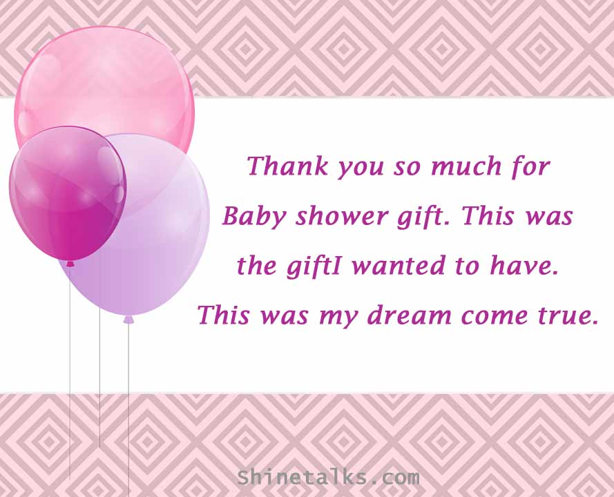 Thank You Message for Baby Shower Gift