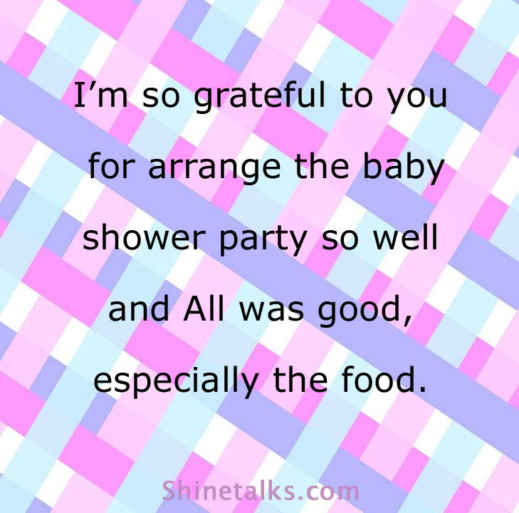 Thank You Wording for Baby Shower Hosts