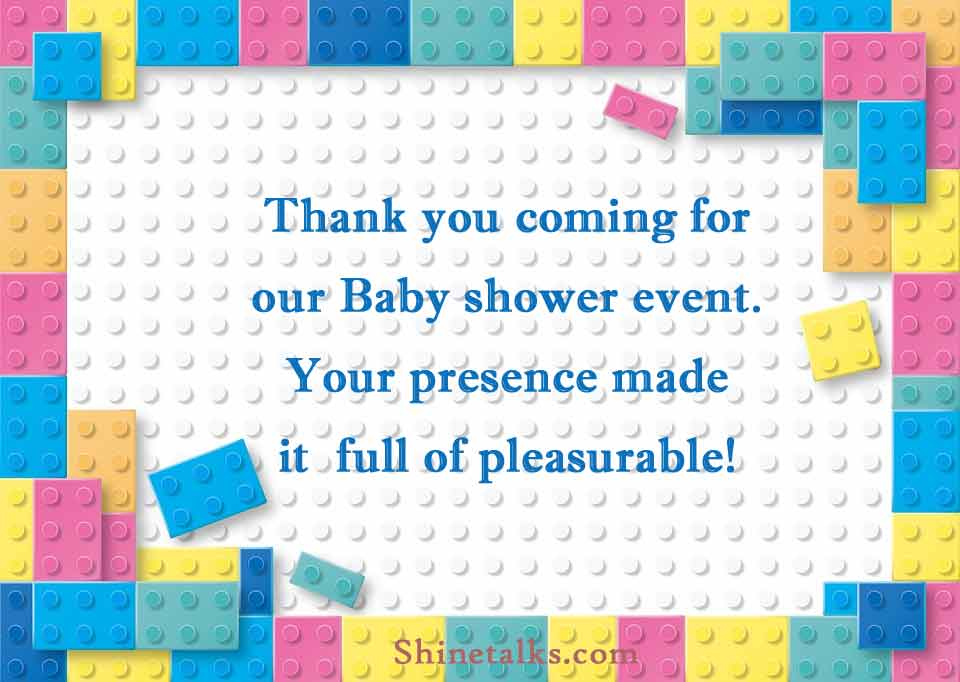 Thank You wording for Baby Shower party