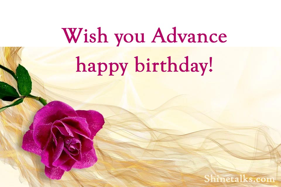 Advance Happy Birthday Funny Wishes
