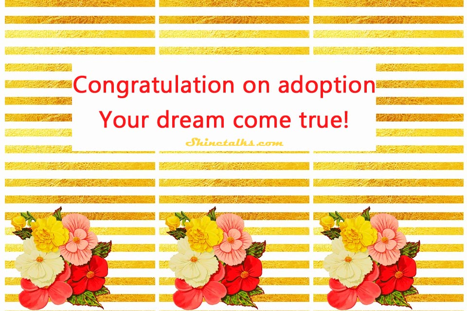 Wordings for Adoption Congratulations