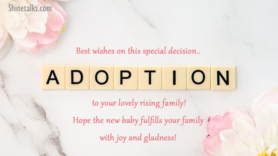 Adoption congratulation texts
