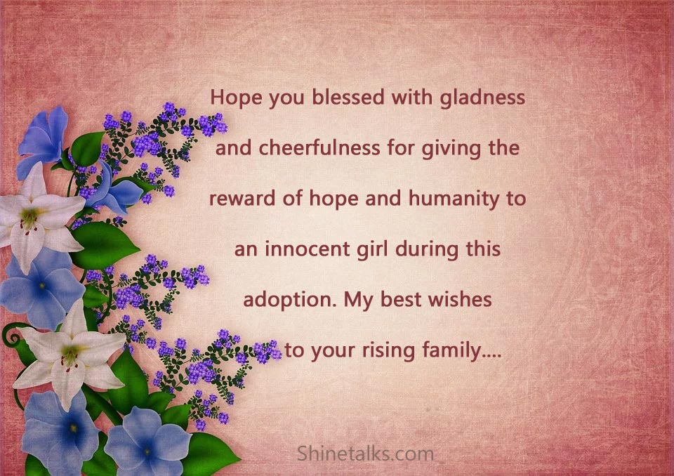 Baby Girl Adoption Congratulations Messages