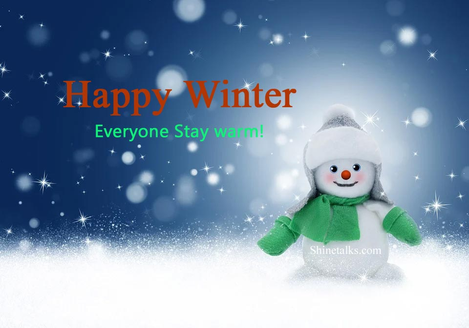 Happy winter pictures with wish