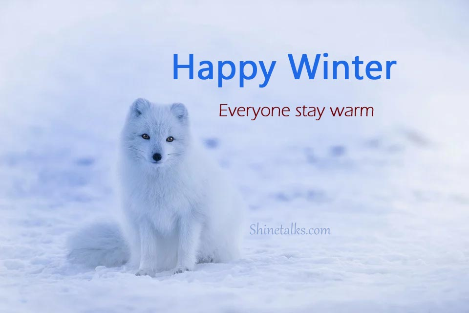 Winter messages with pics