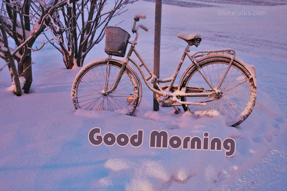 bicycle image on winter season