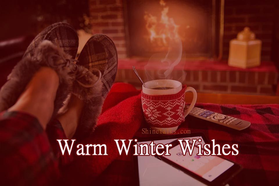 winter warm fireplace wishes