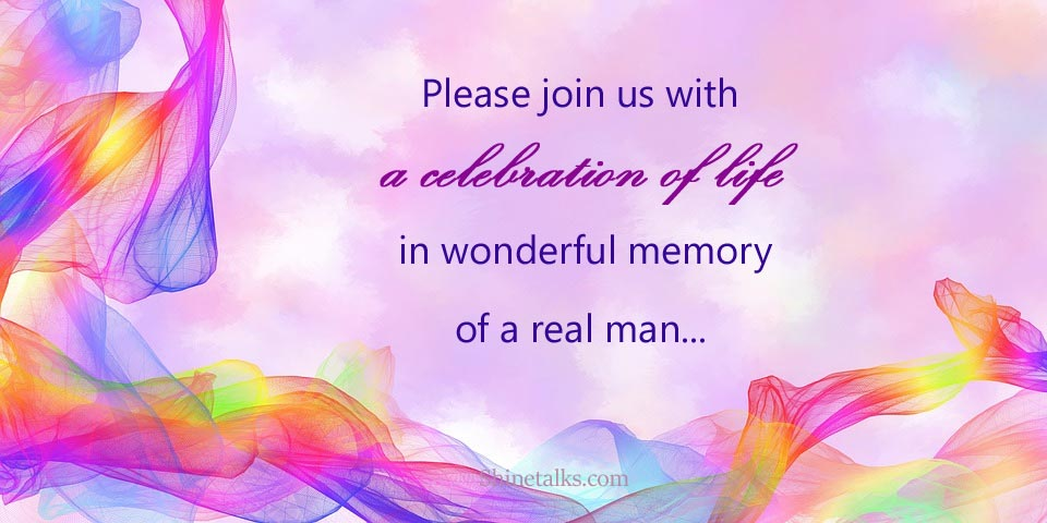 Celebration of Life Invitation cards