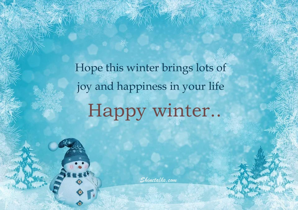 happy winter picture with wishes